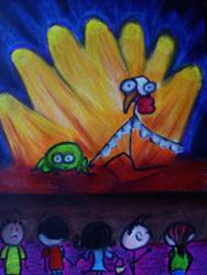 Art: Zombie Chicken Dance Contest by Artist Kelli Ann Dubay