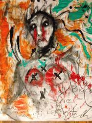 Art: The black queen - Dubay Style by Artist Kelli Ann Dubay