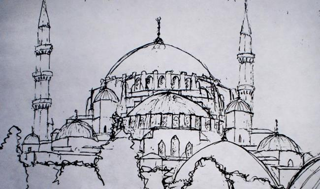 Hagia Sophia - by Lisa Thornton Whittaker from sketch