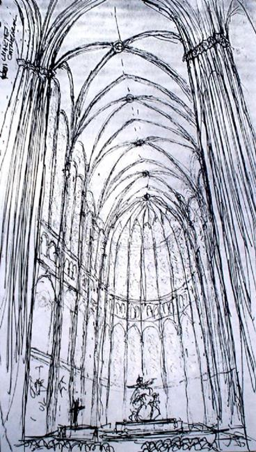 Art: Chartres Cathedral by Artist Lisa Thornton Whittaker