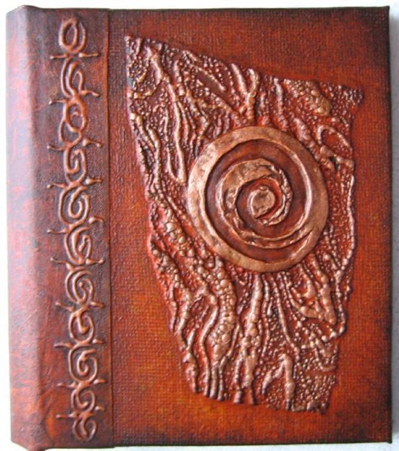 Art: Sienna Copper Journal by Artist Elis Cooke