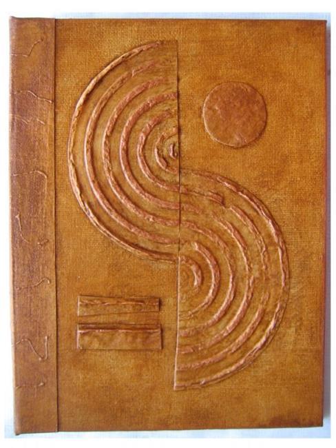 Art: Handmade Journal GoldBrown by Artist Elis Cooke