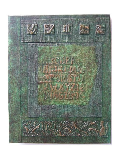 Art: Handmade Journal Green Distress by Artist Elis Cooke