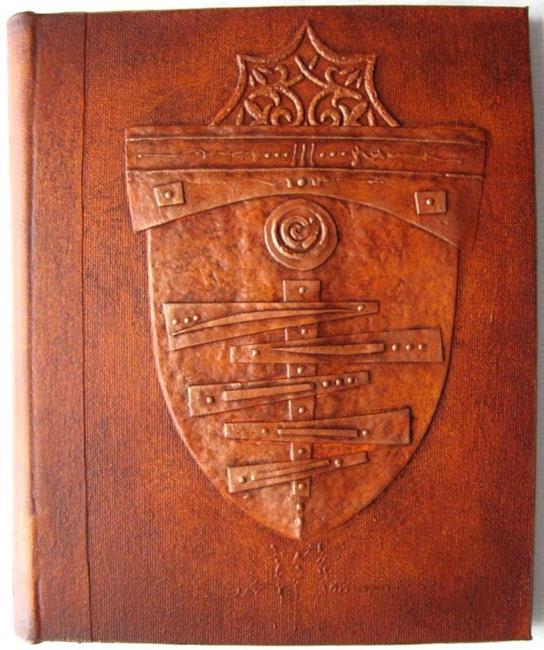 Art: Handmade Journal Shield Sienna by Artist Elis Cooke