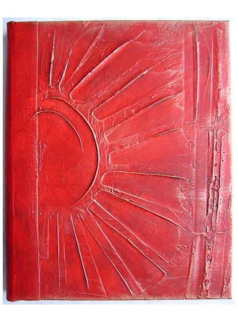 Art: Textured Sun Journal by Artist Elis Cooke