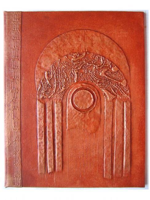 Art: Rust Arch Handmade Journal by Artist Elis Cooke