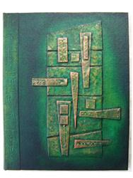 Art: Handmade Journal Green Copper by Artist Elis Cooke