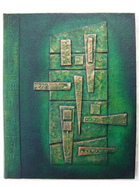Art: Handmade Journal Green Copper by Artist Elis Cooke