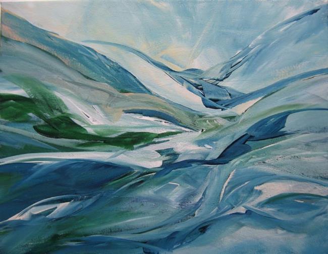 Art: Water Poem 1-1 by Artist Elis Cooke