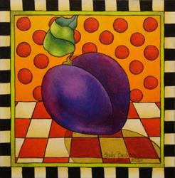 Art: Be Bop A Lula Plum by Artist Shelly Bedsaul