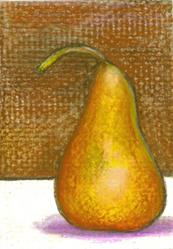 Art: Brown Pear by Artist Marina Owens