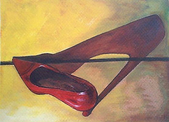 Art: Shoe Shadow by Artist Marina Owens