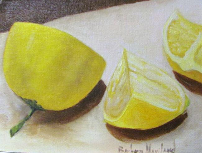 Art: Lemons by Artist Barbara Haviland