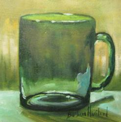 Art: Green Glass Mug  by Artist Barbara Haviland