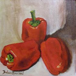 Art: Red Peppers  by Artist Barbara Haviland