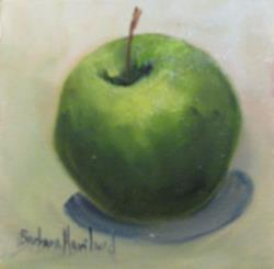 Art: Green Apple by Artist Barbara Haviland