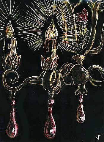 Crystal chandelier red by naquaiya from drawings studies art gallery art crystal chandelier red by artist naquaiya aloadofball Images