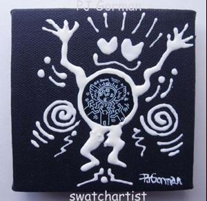 Detail Image for art Haring Tribal #7 Joyful Dance (sold)