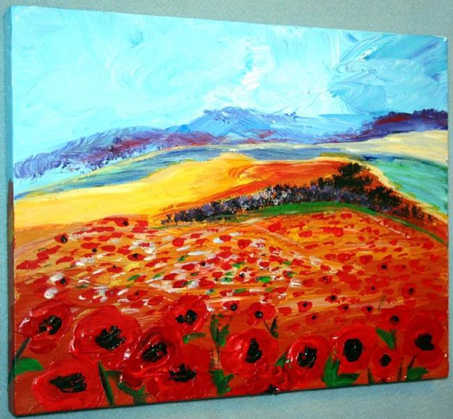 Art: POPPIES FIELD IN GALILEA-ISRAEL by Artist LUIZA VIZOLI