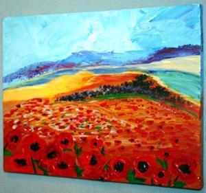 Detail Image for art POPPIES FIELD IN GALILEA-ISRAEL