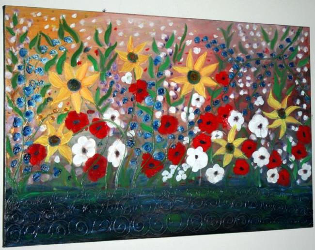 Art: MY GARDEN IN THE RAIN by Artist LUIZA VIZOLI