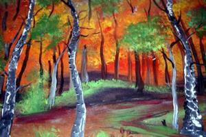 Detail Image for art ARBORETUM-AUTUMN-sold