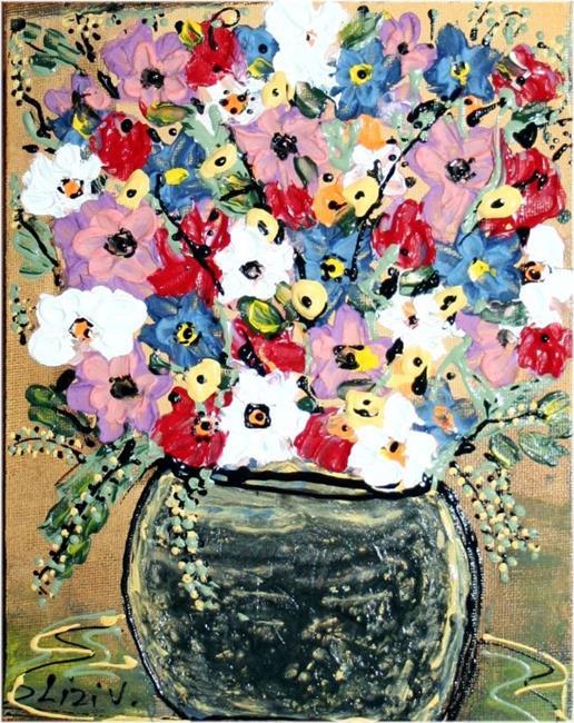Art: FLOWERS BOUQUET-sold by Artist LUIZA VIZOLI