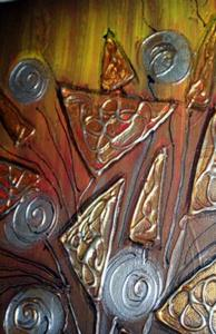 Detail Image for art METALLIC FLOWERS-sold