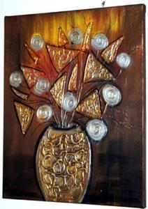 Detail Image for art METALLIC FLOWERS-sold