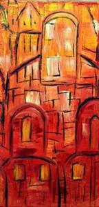 Detail Image for art THE OLD CITY-JERUSALEM IN THE SUNSET
