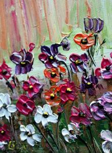 Detail Image for art FLOWERS GARDEN Impasto Oil