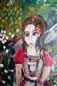 Detail Image for art GIRL IN THE SPRING FLOWERS FIELD