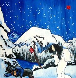 Art: Yuki-Onna (Woman of the Snow) by Artist Amie R Gillingham