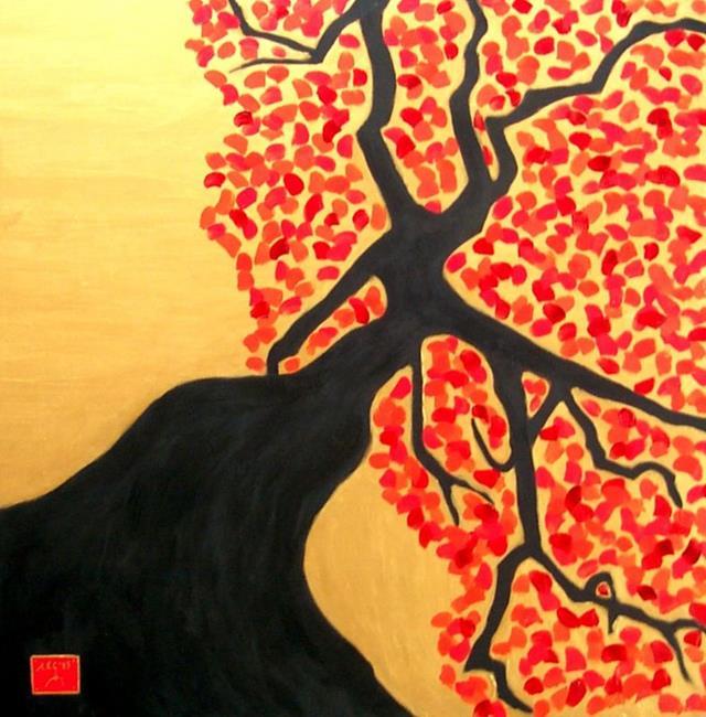Art: tree (fall) by Artist Amie R Gillingham
