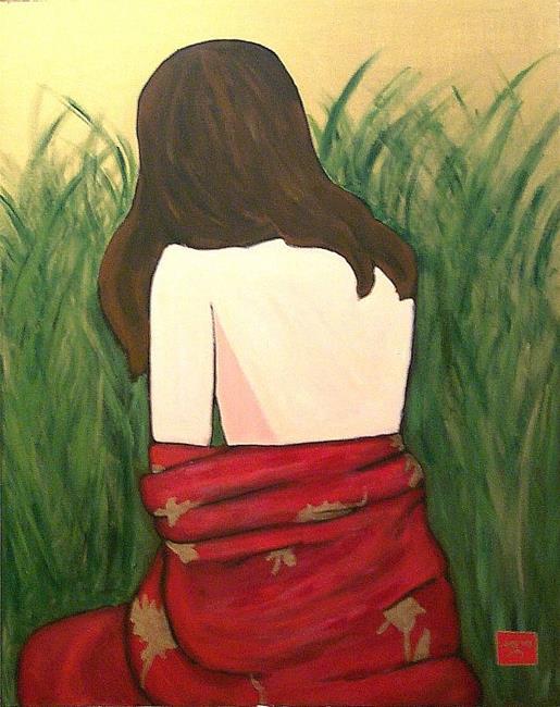 Art: self-portrait as geisha (redux) by Artist Amie R Gillingham