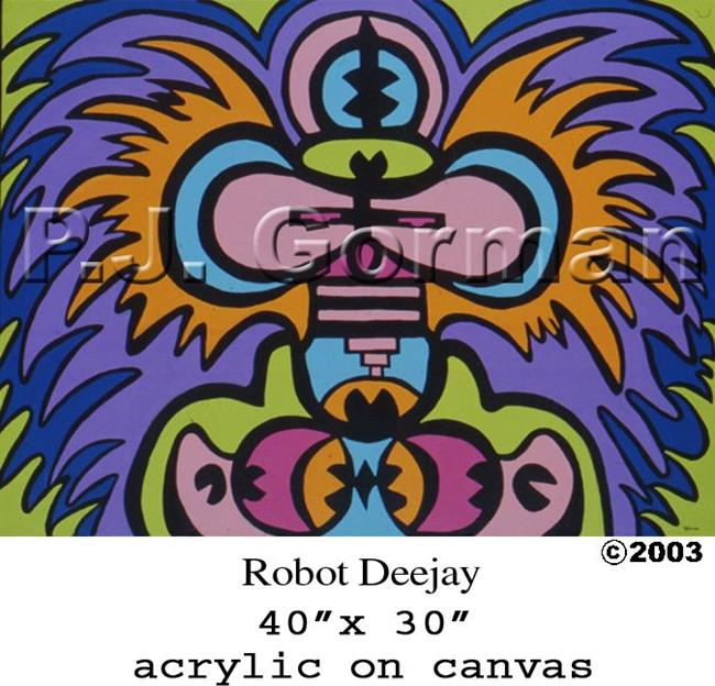 Art: Robot DJ by Artist PJ Gorman