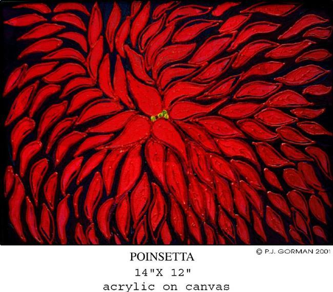 Art: Poinsetta (sold) by Artist PJ Gorman