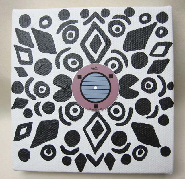 Art: Coconut Grove Swatch (sold) by Artist PJ Gorman