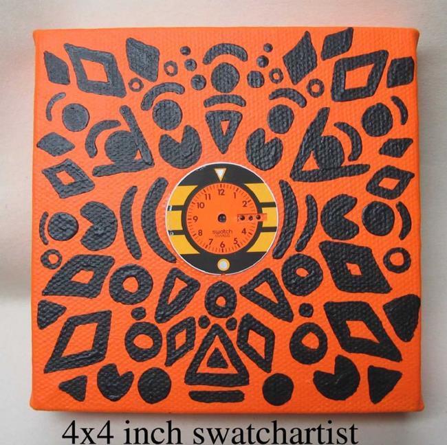 Art: wipe out swatch (sold) by Artist PJ Gorman
