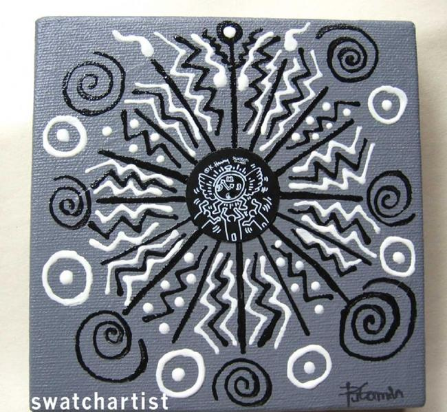 Art: Haring Tribal  (sold) by Artist PJ Gorman