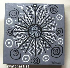 Detail Image for art Haring Tribal  (sold)