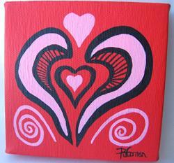 Art: Heart 2 Heart (sold) by Artist PJ Gorman