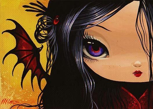 Art: Purple Eyes by Artist Nico Niemi