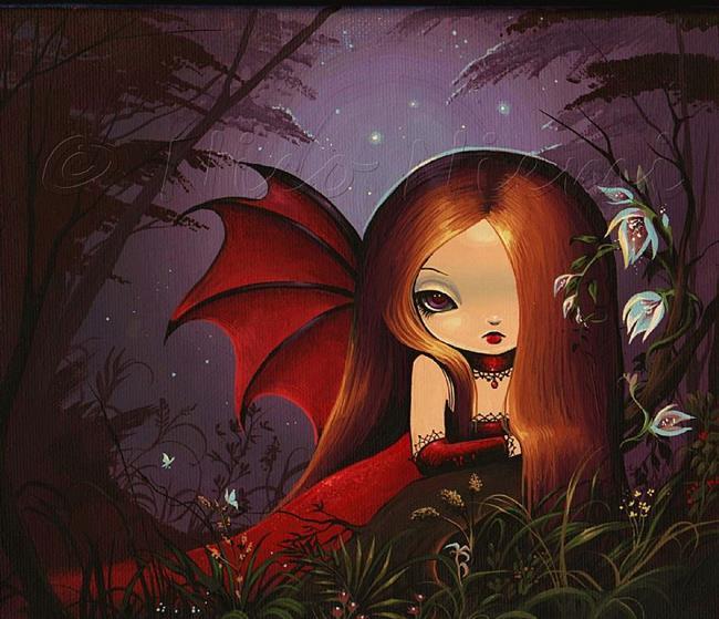Art: Red by Night by Artist Nico Niemi