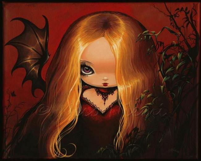 Art: Violet Eyes by Artist Nico Niemi