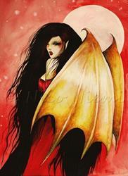 Art: Red Night by Artist Nico Niemi