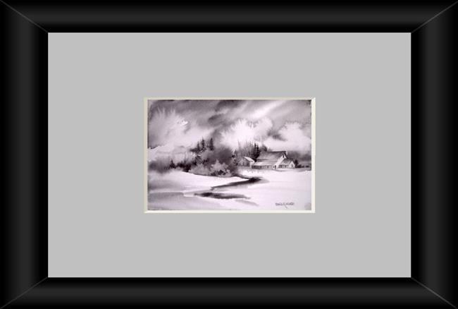 Art: Black and White by Artist Pamela K Wilhelm