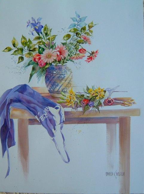 Art: Cut Flowers for Robyn by Artist Pamela K Wilhelm