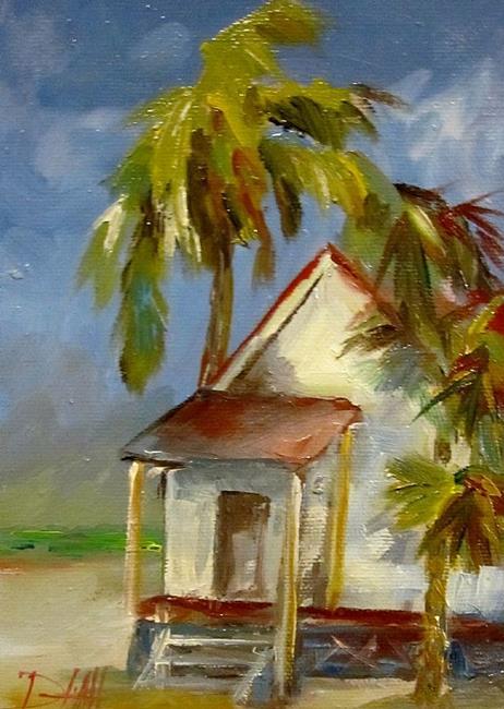 Art: Little Beach Shack by Artist Delilah Smith