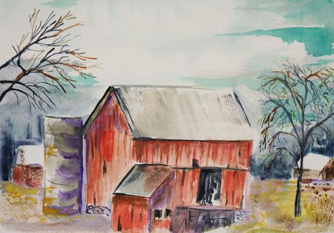 Art: The old Barn by Artist Delilah Smith
